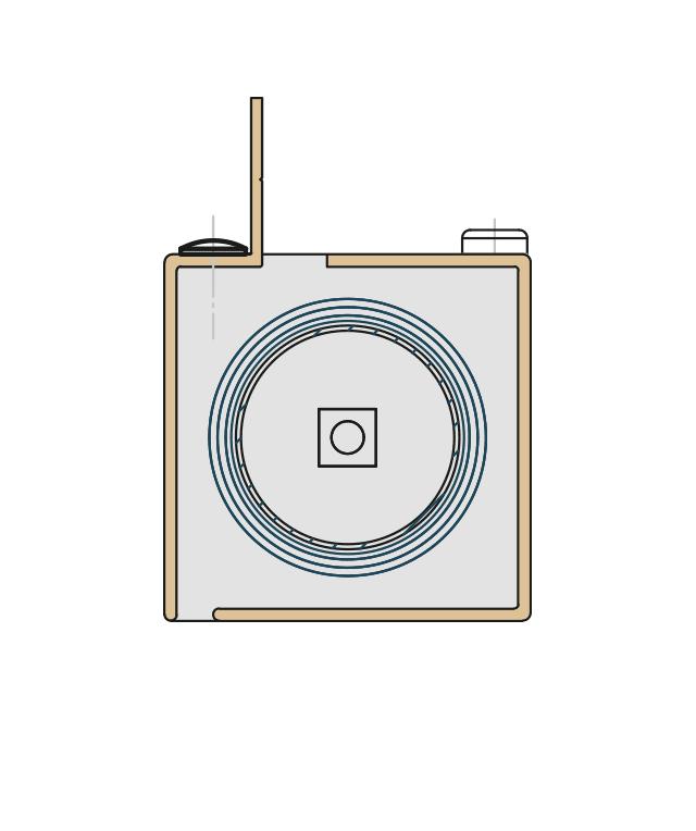 Kassettenquerschnitt für die Glasfalzmontage